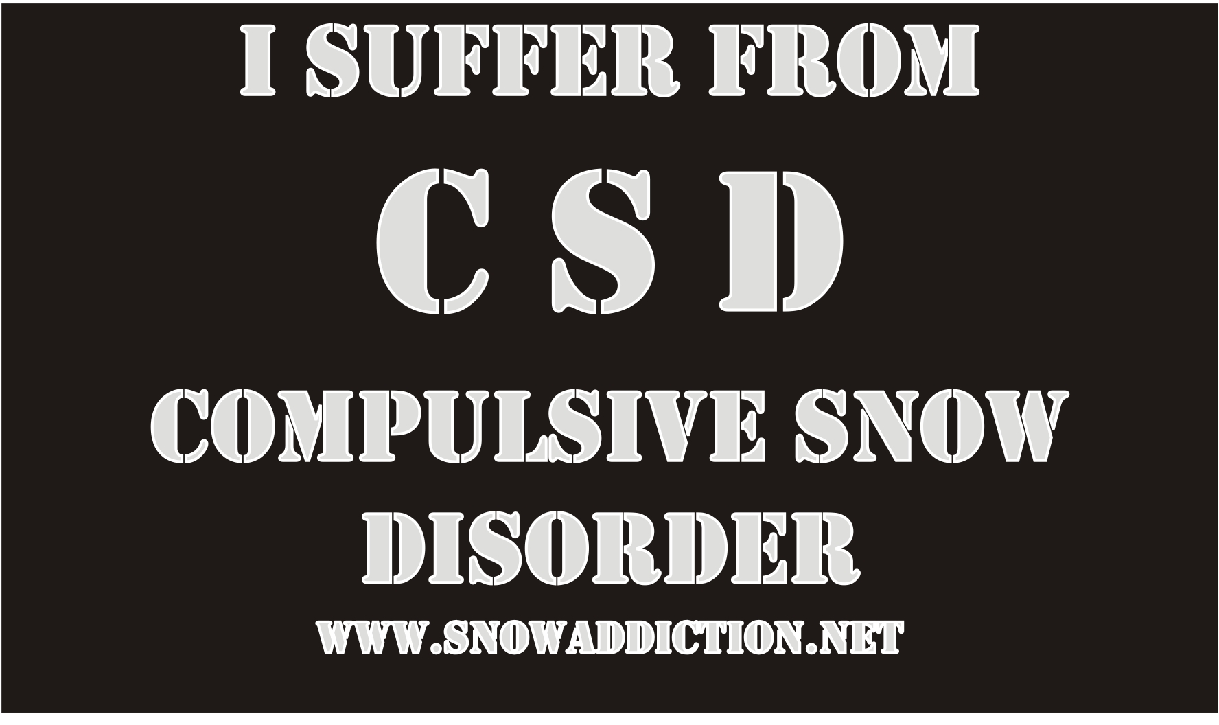 click to purchase a snow addiction tshirt/hoody
